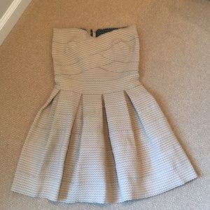 Garcia Taupe White Black Fun Elastic Dress Size M